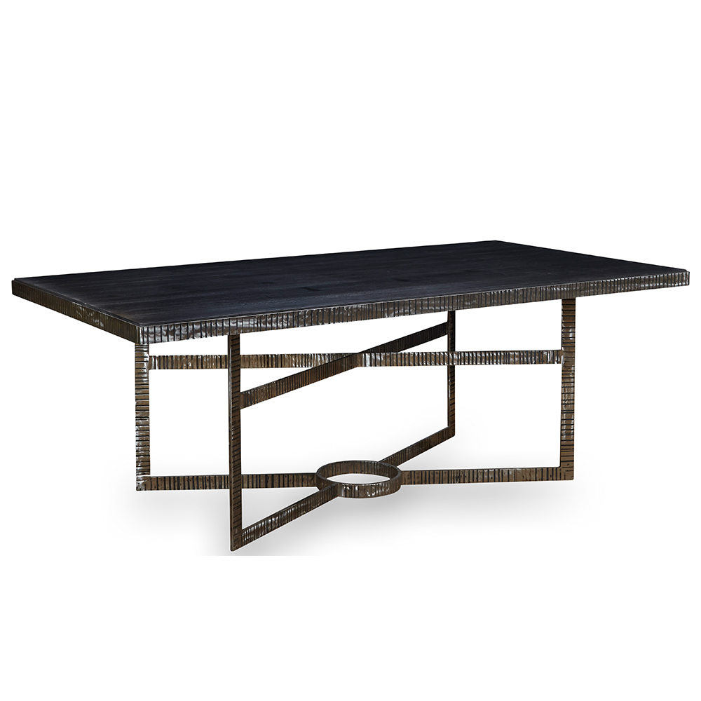 Perry Dining Table Metal Top Home Collection