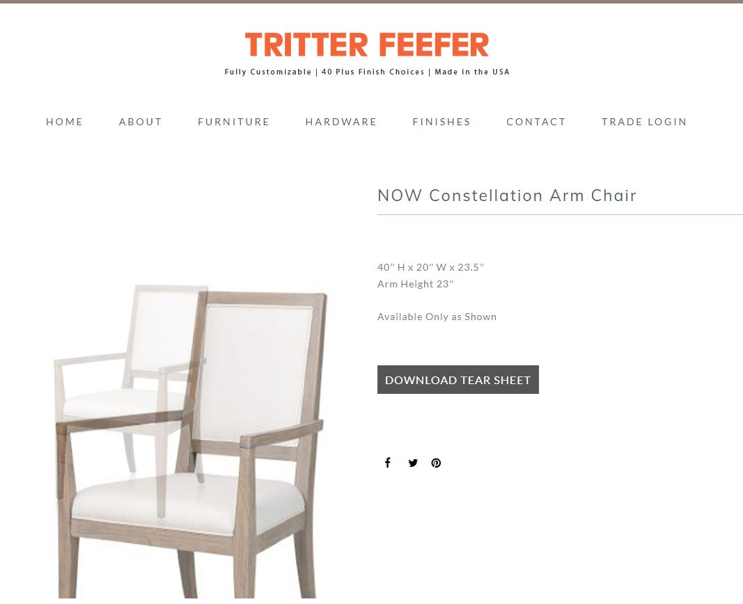Now Constellation Arm Chair Home Collection